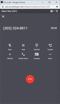 unified communications web phone